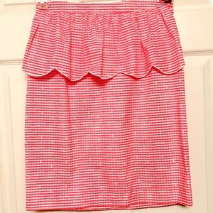 Lilly Pulitzer Pink Gingham Pencil Skirt - Size 2
